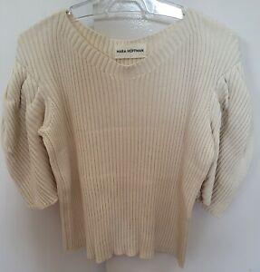 Mara Hoffman Ivory Ribbed Cotton Knit