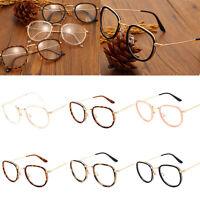 Vintage Clear Lens Eyeglasses Frame Retro Round Men Women Eyewear Nerd Glasses