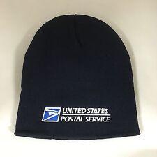 USPS Beanie Decky Custom Embroidery United State Postal Service Short Knit Navy