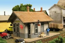Monroe Models N Scale Trains 9210 The Hickson Depot Building Model Railroad Kit