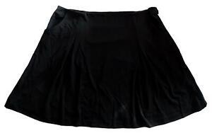 NEU Übergröße ausgestellter Damen Stretch Rock in schwarz 2 Taschen Gr.52