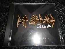 Def Leppard Q&A promotional CD from X era 2002