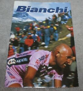 2001 BIANCHI BICYCLES CATALOG/BROCHURE POSTER ROAD CROSS & MOUNTAIN BICYCLES
