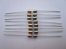 100 Pcs 3.6x10mm T10A 10amp 250V Miniature Glass Fuse Slow Blow Fine Wire New