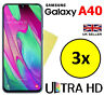 3x HQ CRYSTAL CLEAR HD SCREEN PROTECTOR COVER GUARD FOR SAMSUNG GALAXY A40