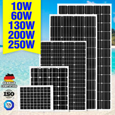 250W 200W 130W 60W 10W Solar Panel Kit Mono 12V Caravan Battery Home Charging
