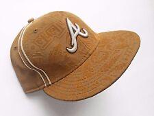 Ltd Edition ATLANTA BRAVES 59FIFTY MLB Embossed Velvet Urban Theme Fitted Hat