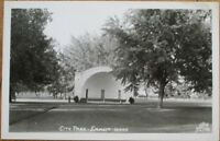 Emmett, ID 1940s Realphoto Postcard: City Park - Idaho