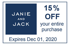 JANIE & JACK COUPON code 15% off Entire Purchase - Expires December 01, 20