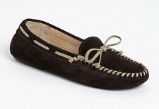 NEW VERA WANG Dorian Tobacco Brown Suede Flat Loafer Driving Moccasin US 9.5/41