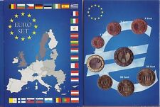 EURO ALLEMAGNE 2002  SERIE COMPLETE 1 C A 2 €  HAMBOURG
