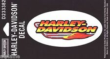 AUTHENTIQUE STICKER HARLEY DAVIDSON FLAMING PIPES PM
