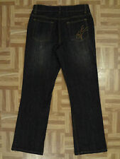 Coldwater Creek Mid Rise Boot Cut Black Denim Stretch Jeans 10 x 31 MSRP $89