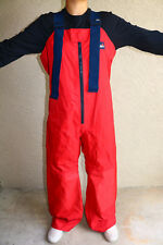 MUSTO Red Sailing Pants Overalls Waterproof M Med Medium Made England Essex A1