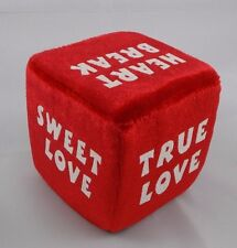 "Dan Dee Red Love Sayings Dice Plush 3"" Valentines Day Stuffed"