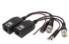 8x CCTV Camera Via CAT5 Twisted Pair Video Power Audio Data Balun Connector UTP