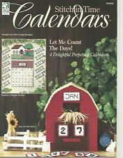 Stitch in Time Perpetual Calendars Plastic Canvas Patterns Farm Fish Cats NEW