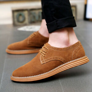 New Casual Mens Oxford Shoes for Work Office Business Artificial Leather Low-Top