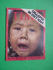 TIME magazine Europe 1975 April 14 Collapse In Viet Nam