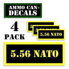 5.56 Ammo Can Label 4x Ammunition Case stickers decals 4 pack YW MINI 1.5in