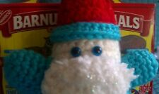 Olof, a blue-eyed gnome!  Handcrafted - amigurumi - crocheted.