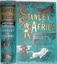 1889 STANLEY IN AFRICA LIVINGSTONE SLAVE HUNTERS SLAVERY NEAR FINE COLOR PLATES