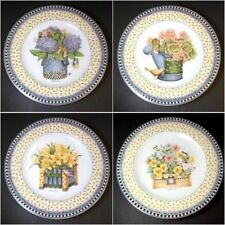 """Debbie Mumm Salad Plate set Spring Bouquet Sakura 1999 8"""""""
