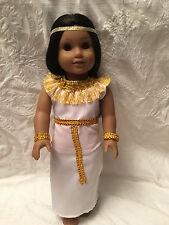 """Egyptian Queen Cleopatra Halloween Costume Fits American 18"""" Girl Doll Clothes"""