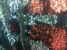Mermaid Sequins Fabrics Reversible Stretch Fashion Fabric Multi-Color The Yard