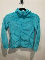 Spyder Fleece Hooded Jacket Womens Size Small Full Zip Teal EUC