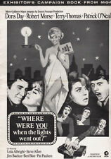 WHERE WERE YOU WHEN THE LIGHTS WENT OUT pressbook, Doris Day ----PLUS POSTER----