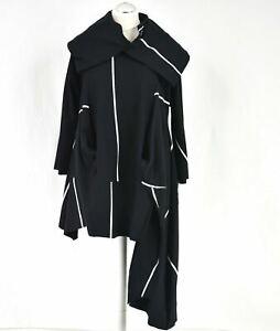CREARE Black & White Structured Asymmetric Dress