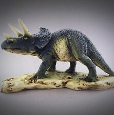 Vintage Castanga Triceratops 1990 Dinosaur Figurine Italy Alabaster Figure