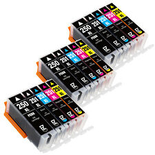 15 Pack PGI-250 XL CLI-251 XL Ink Cartridges for Canon PIXMA MG5422 MG5520