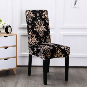 2 x Banquet Dinning Chair Cloth Seat Cover Stretch Washable Party Event AU