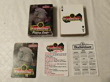 1998 Budweiser Playing Cards