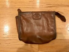 Vintage Ghurka Brown Leather Travel Pouch