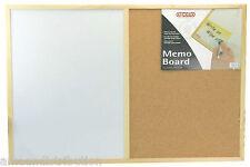 CORK PIN AND WHITE BOARD MEMO NOTICE KITCHEN OFFICE 40 x 60 CM