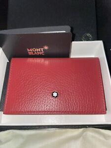 New MONT BLANC Meisterstuck Grain Leather Envelope Business Wallet Card Case