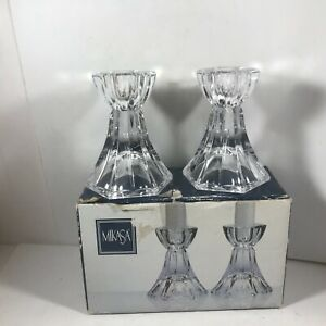 Pair of MIKASA Metro Flair Candle Candlestick Holders