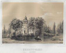 BERRITSGAARD paa Lolland, getönte Lithographie um 1850