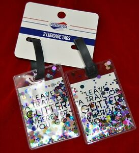 American Tourister 2 Pack Luggage Tags Leave A Trail Of Glitter Wherever You Go
