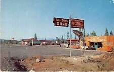 Cascade Mts Oregon Peter Dons Cafe and Sporting Goods Vintage Postcard J54930