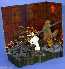 STAR WARS SAGA ANH LOOSE ULTRA RARE DEATH STAR TRASH COMPACTOR LEIA & CHEWBACCA.