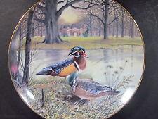 Knowles 1987 The Wood Duck Jerner's Ducks Ltd Ed Plate Box & Coa