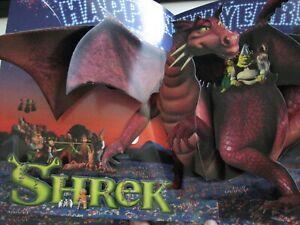 Shrek Dragon Happy News Year  3D popup RARE  OSCAR AD