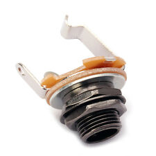 "10x Electric Guitar Bass Mono Input Jack Socket Standerd 1/4"" 6.35mm Black"