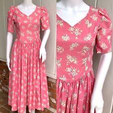 VRG Laura Ashley Bubblegum Pink Floral Puffed Sleeve Prairie Tea Dress UK S