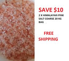 HIMALAYAN  PINK SALT COARSE 2 X 20 KG BULK  BAG BULK SUPPLY SAVE $10