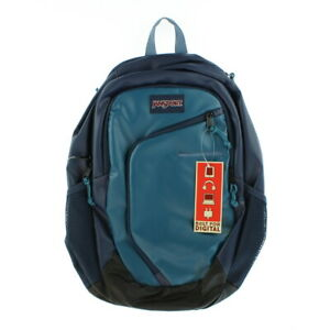 """JanSport Unisex Adult Backpacks Teal Navy Interface with 15"""" Laptop Sleeve"""